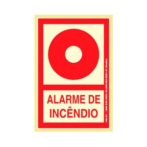 Placa Sinalização Alarme de Incêndio