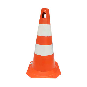 Cone PVC Plastcor Laranja/Branco