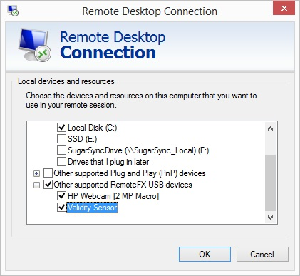 RDPConnectionWithRemoteFXUSB