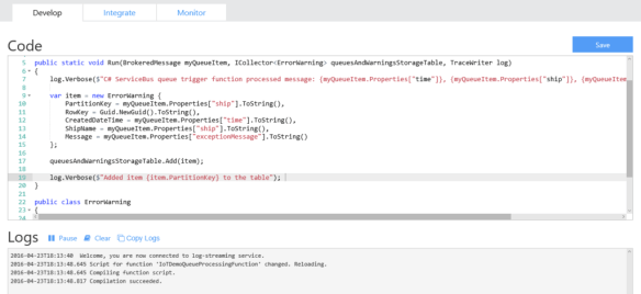 Azure Function Compiled