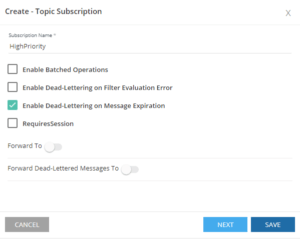 Create Topic Subscriptions