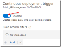 Enable continuous deployment trigger