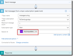 Correlate on messages with Session Id