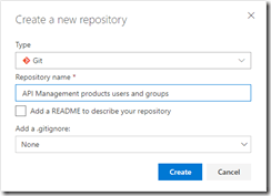 API Management products, users and groups repository