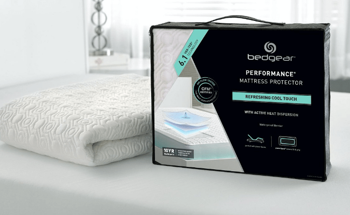 Mattress protector in lifestyle setting