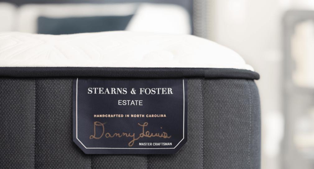 Close-up of Stearns & Foster mattress