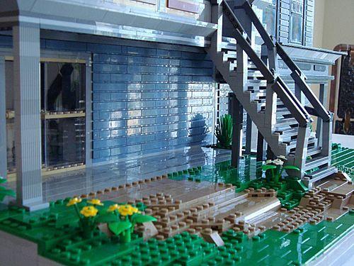 construccion victoriana con lego: escalera