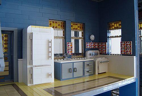 construccion victoriana con lego: cocina