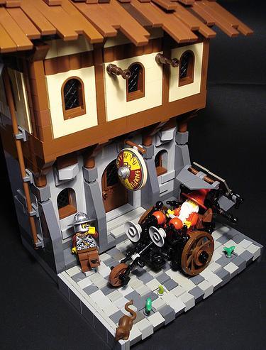 construye tejados con LEGO: madera