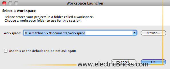 Eclipse para LeJOS en Mac: Eclipse Workspace