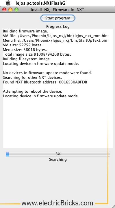 Instalar LeJOS en MAC OS X: LeJOS Flash