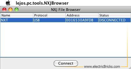 Instalar LeJOS en MAC OS X: NXJBrowser