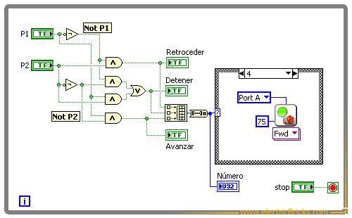 Programa de control del motor NXT