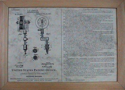 maquina de tatuaje: patente O'reilly