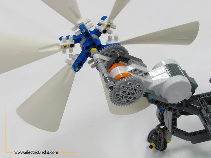 NXT AirScooter. Detalle del anclaje de la hélice