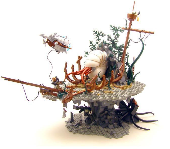 el fondo de los mares con LEGO