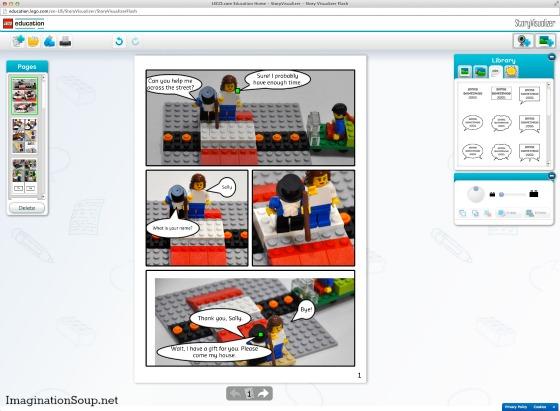 Contando historias con StoryStarter: LEGO-Story-Visualizer
