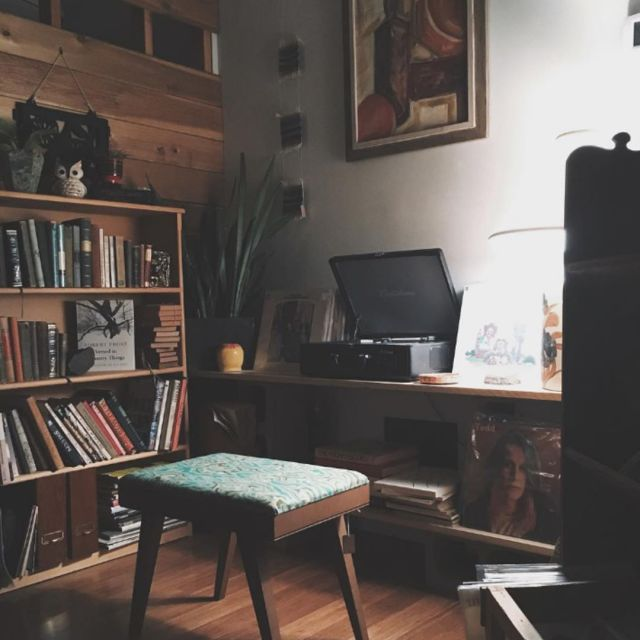 Everybody needs a cozy music nook photo by mavencollectpdx hellip