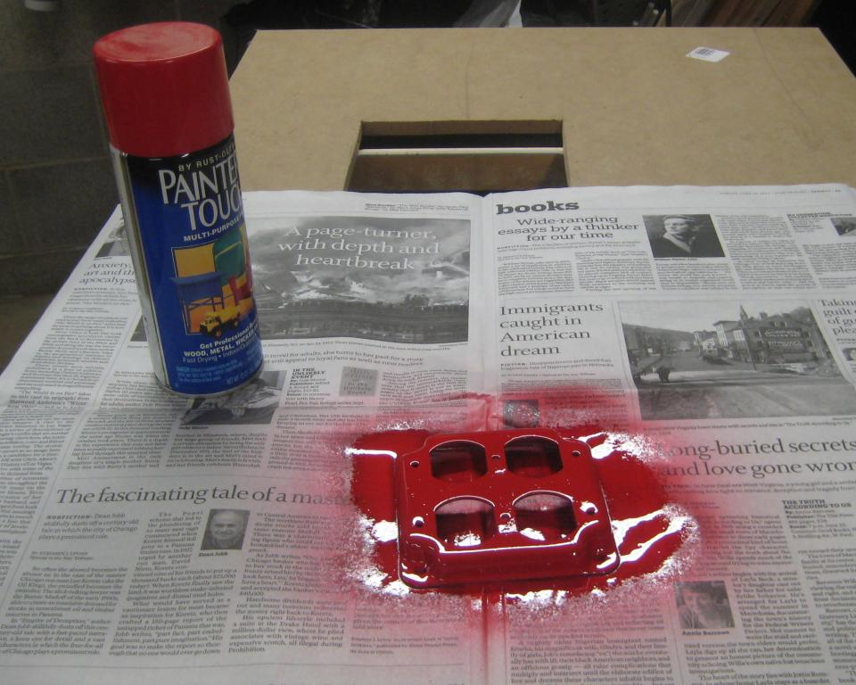 Painting the red outlet