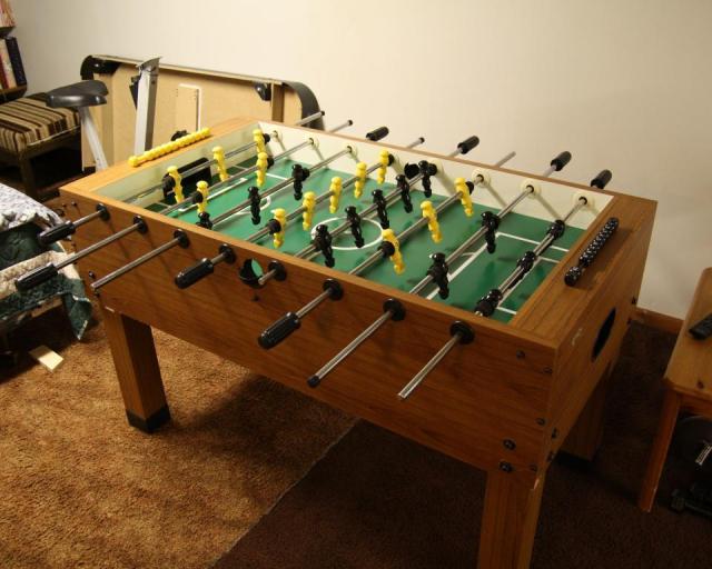 Reassembled Foosball Table