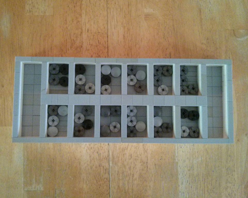 Lego Mancala board
