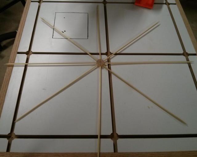 Gluing the frame together