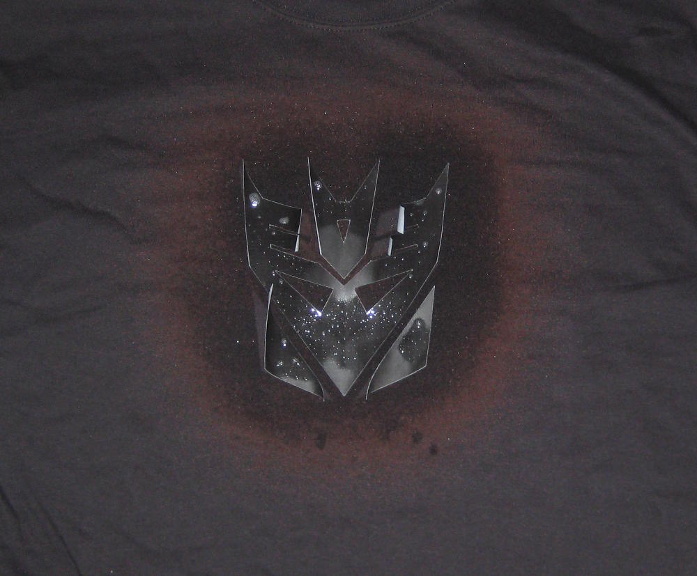 2) Making a Bleached Logo Decepticon Shirt #NewThingEveryDay