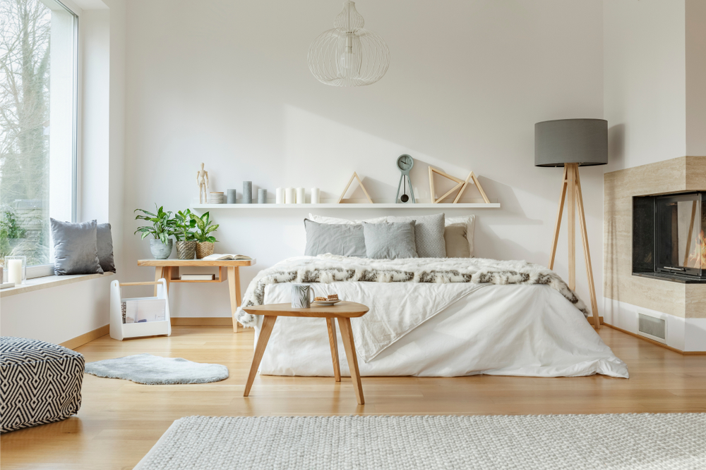dormitor in culori neutre