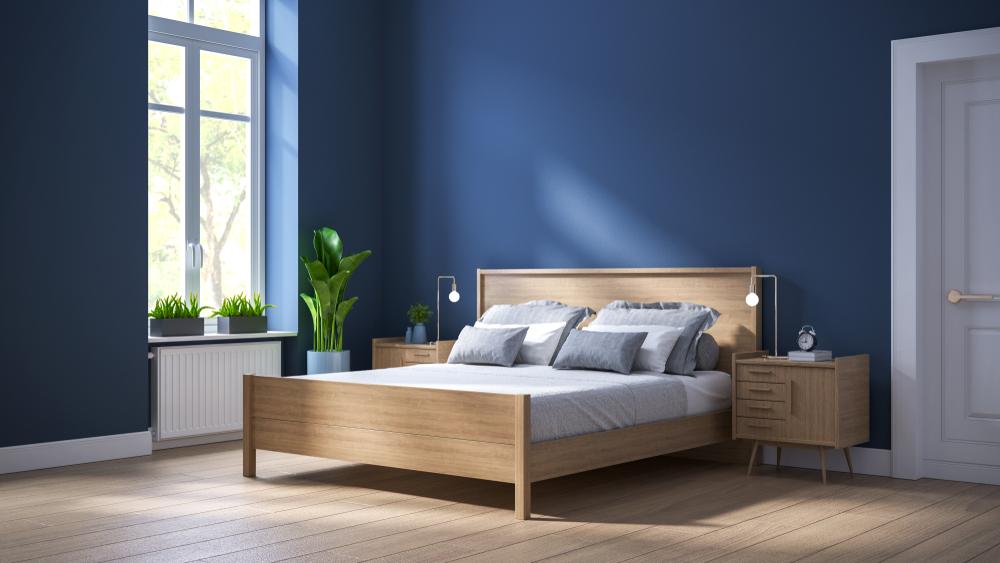 idei de amenajarea pentru un dormitor albastru
