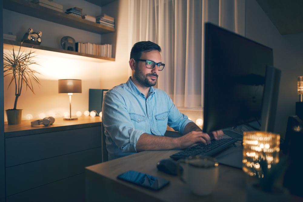 iluminarea biroului de acasa
