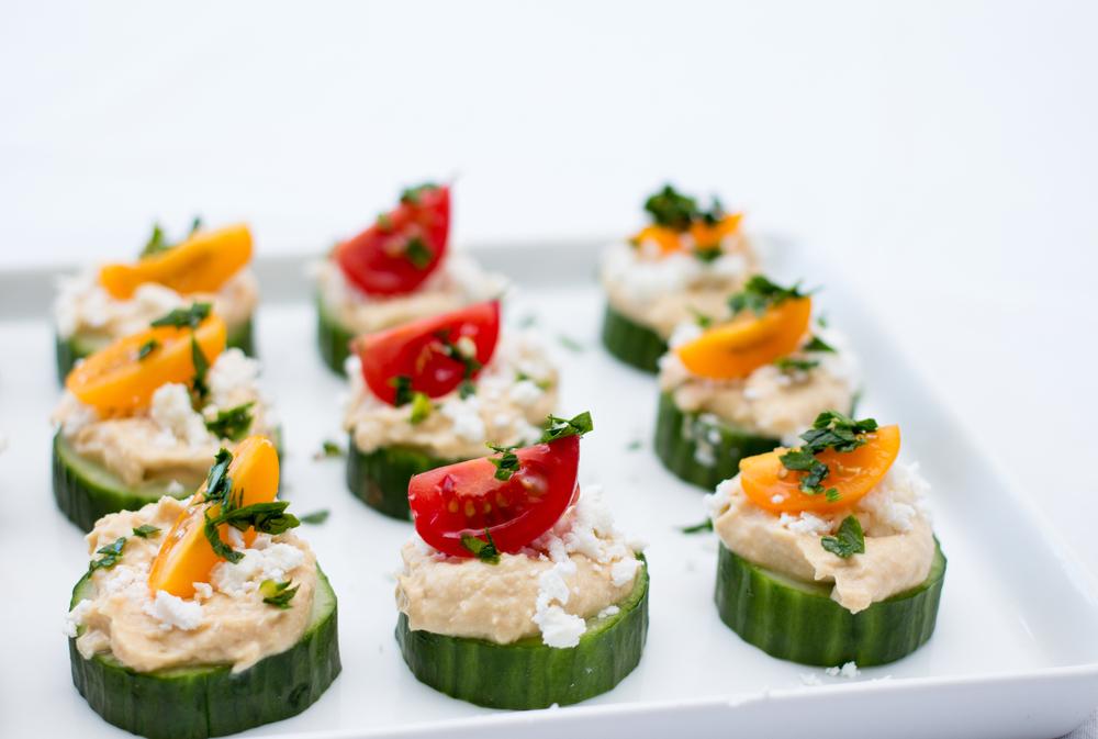 felii de castravete cu humus