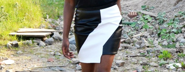 Monochrome Asymmetric Skirt