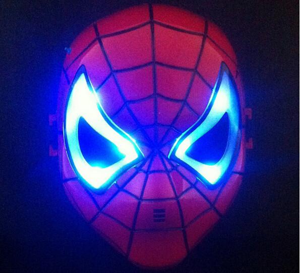 Máscaras de LED homem aranha ligada 2