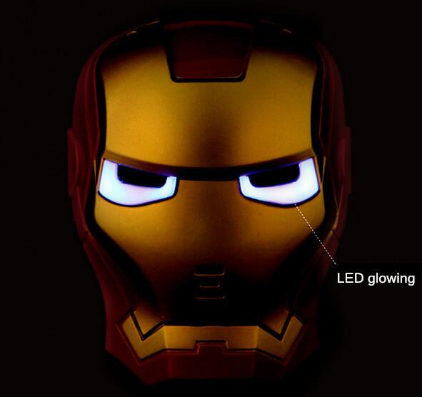 Máscaras de LED homem de ferro ligada