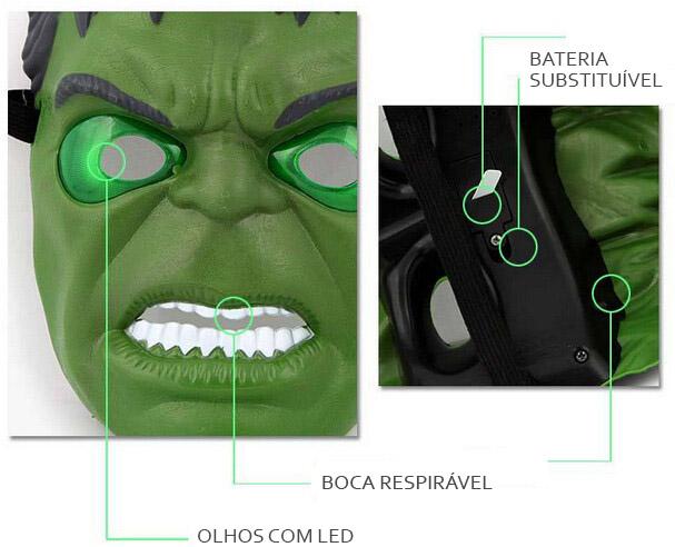 Máscaras de LED hulk ligada