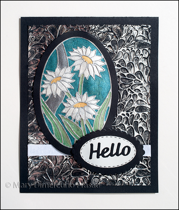Shimmering Daisies Card Front