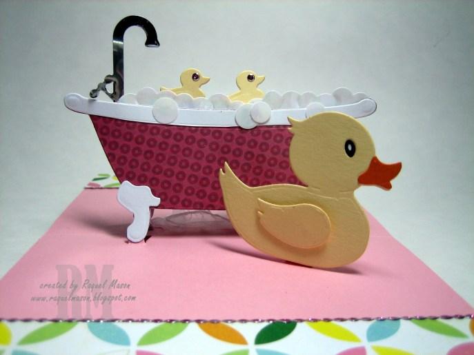 KB ECD Bathtub Rubber Duck close up open