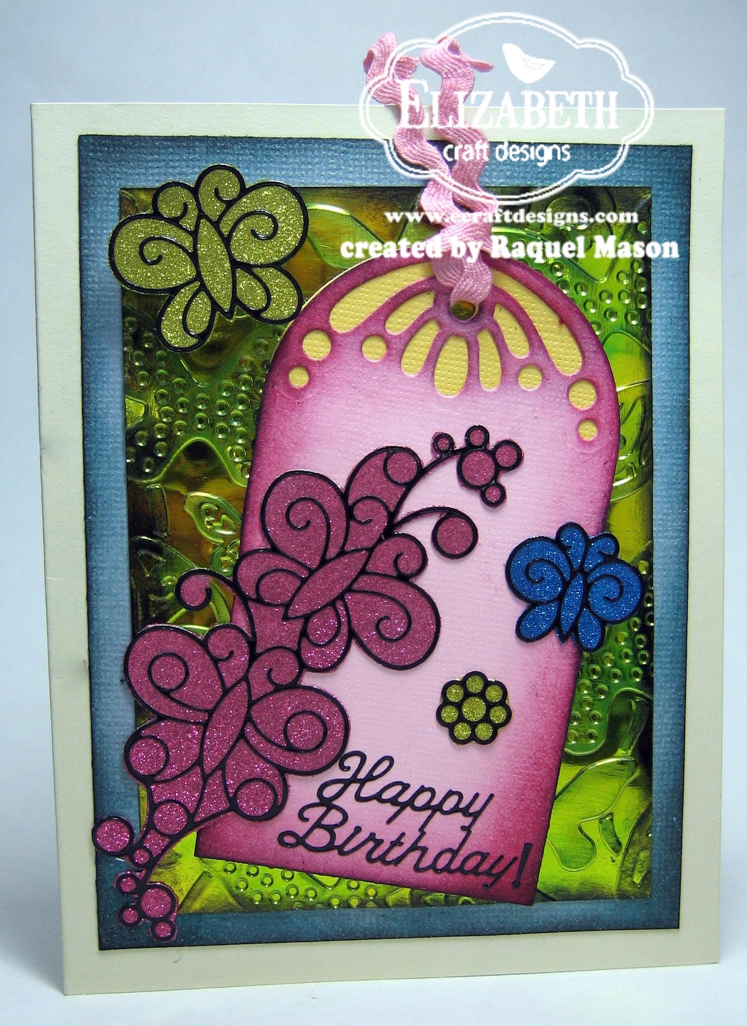 Silk microfine glitter butterflies for Elizabeth craft microfine glitter
