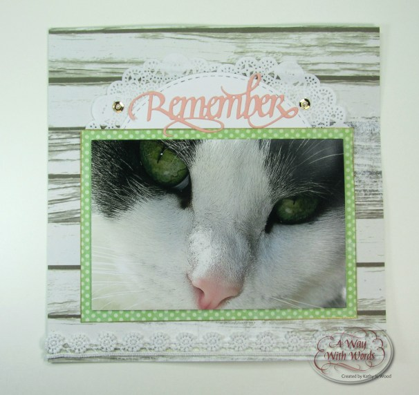 Elizabeth Craft Designs Suzanne Cannon A way with words remember scrapbook page kathy jo 1