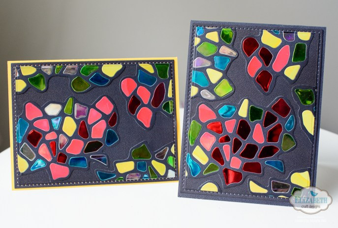 Marsha Valk | Elizabeth Craft Designs: Pebbles Stained Glass Hearts Card