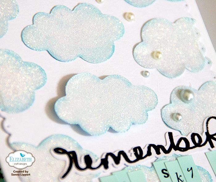 Glitter Cloud Card Elizabeth Craft Designs