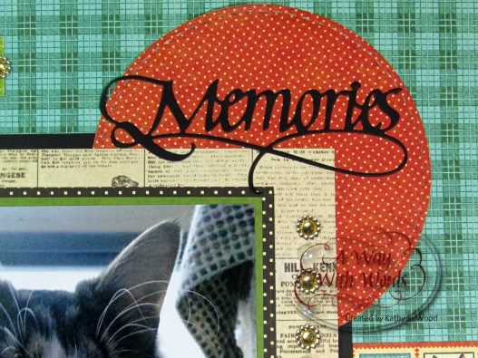 Elizabeth Craft Designs Graphic 45 Suzanne Cannon Way With Words Raining Cats and Dogs Scrapbook Layout Kathy Jo 2