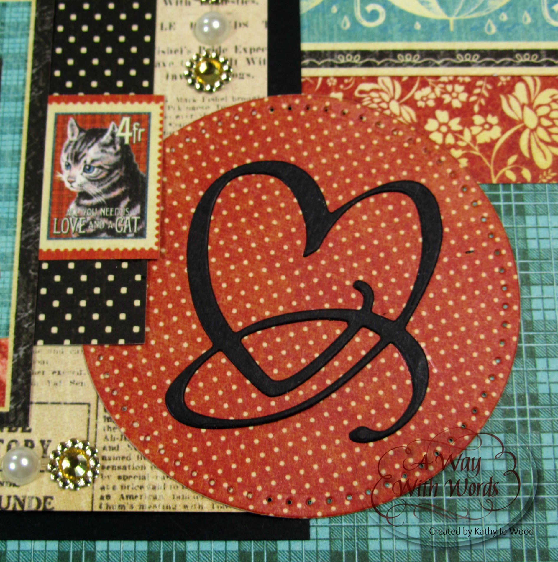 How to scrapbook words - Elizabeth Craft Designs Graphic 45 Suzanne Cannon Way With Words Raining Cats And Dogs Scrapbook Layout