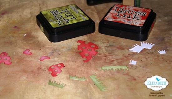 Sanna Lippert - Distress Ink, die cut cards