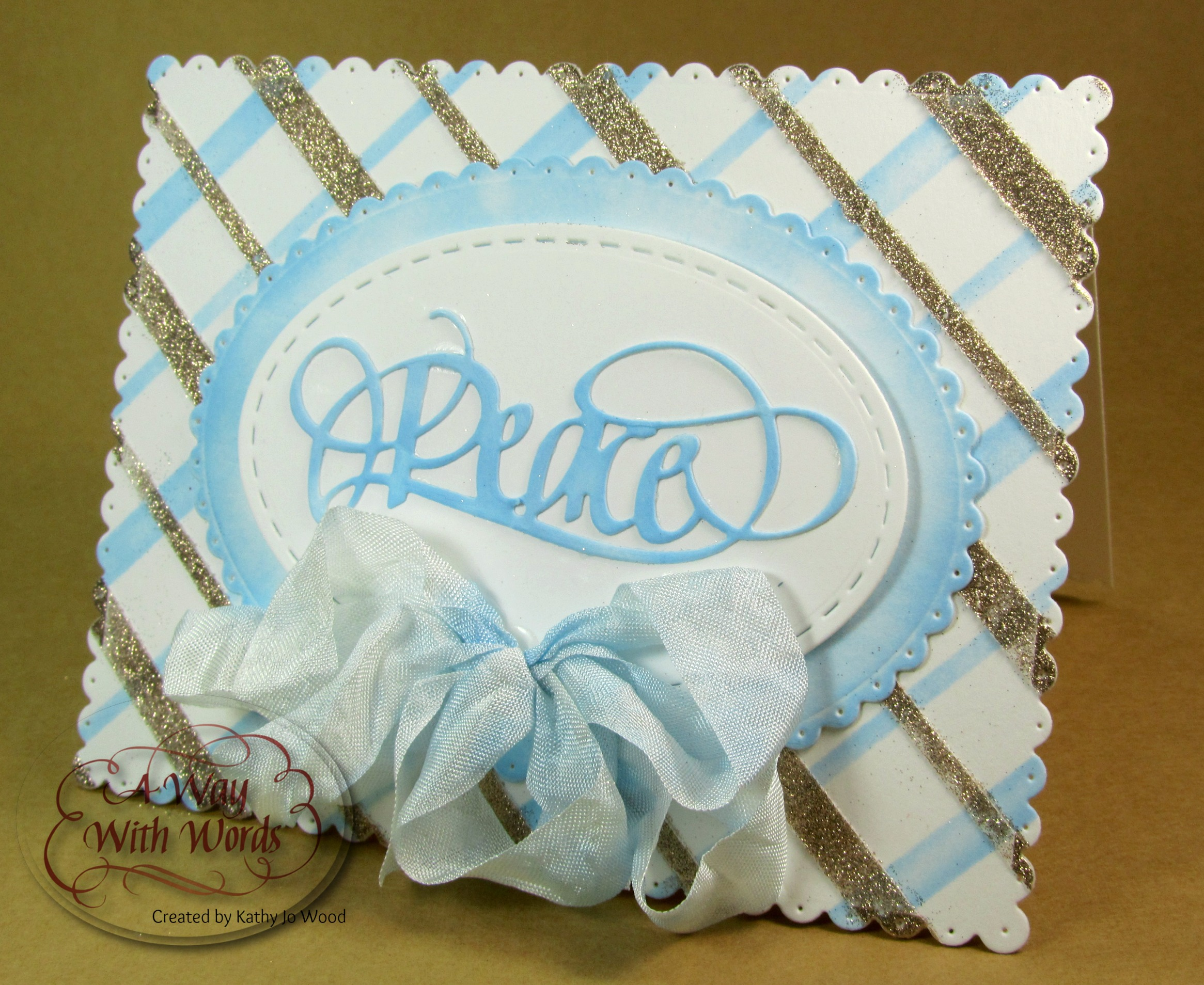 Hello Crafty Friends Kathy Jo Here Sharing A Holiday Card Using The Beautiful Peace Die Designed By Suzanne Cannon Consists Of Light Blue