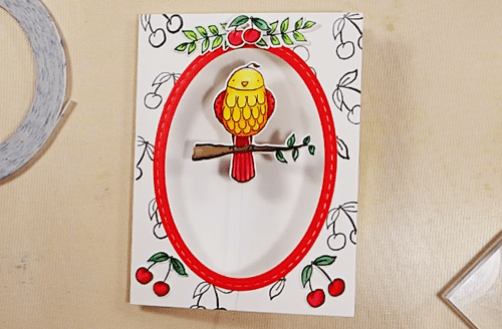 Bird on a Wire Card - Step 8