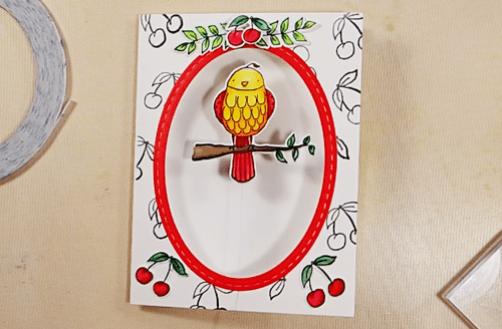 Bird on a Wire Card - Step 8