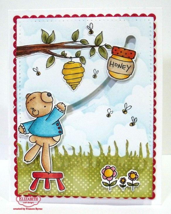 Honey Bear Spinner card by Frances Byrne