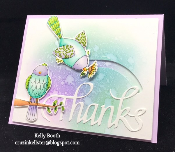 Feathered Friends Spinner Card by Kelly Booth