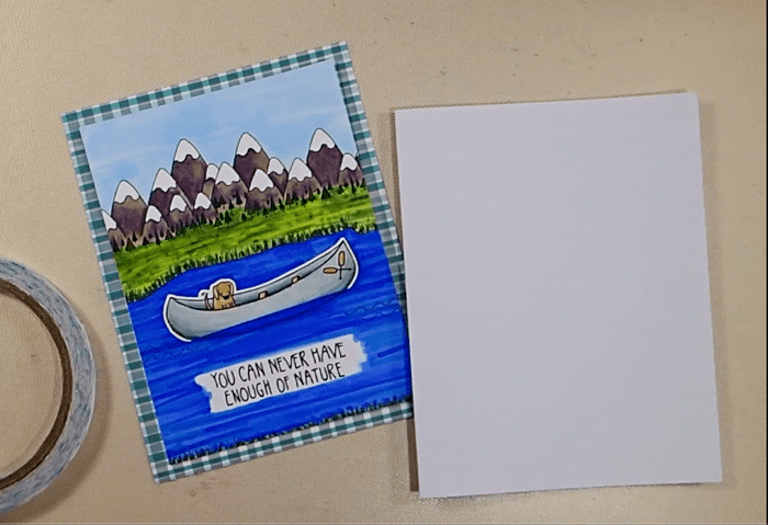 Camping Out Colorado Canoe Card - Step 3